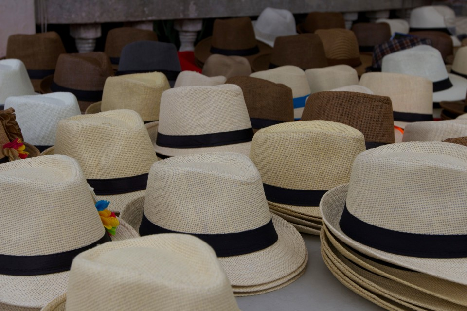 There were Panama hats (made in Ecuador for the high quality ones, China for the ones on the street) sold everywhere.