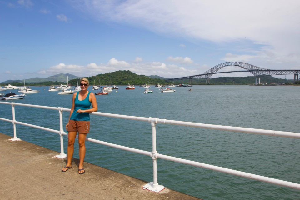 You can also see the bridge of the Americas from this promenade and the part of the Panama canal where the boats exit into the Pacific.