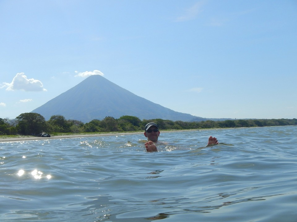 Ok, last volcano pic, but it was so beautiful swimming surrounded by white beach and volcanoes in a giant lake.