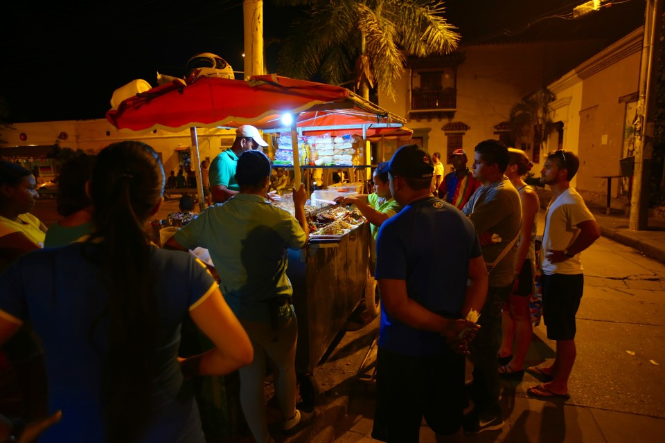 The cobblestoned Plaza de la Trinidad in front of the 17th century church was a gathering place at night for locals and tourists. There were lots of yummy food carts here.