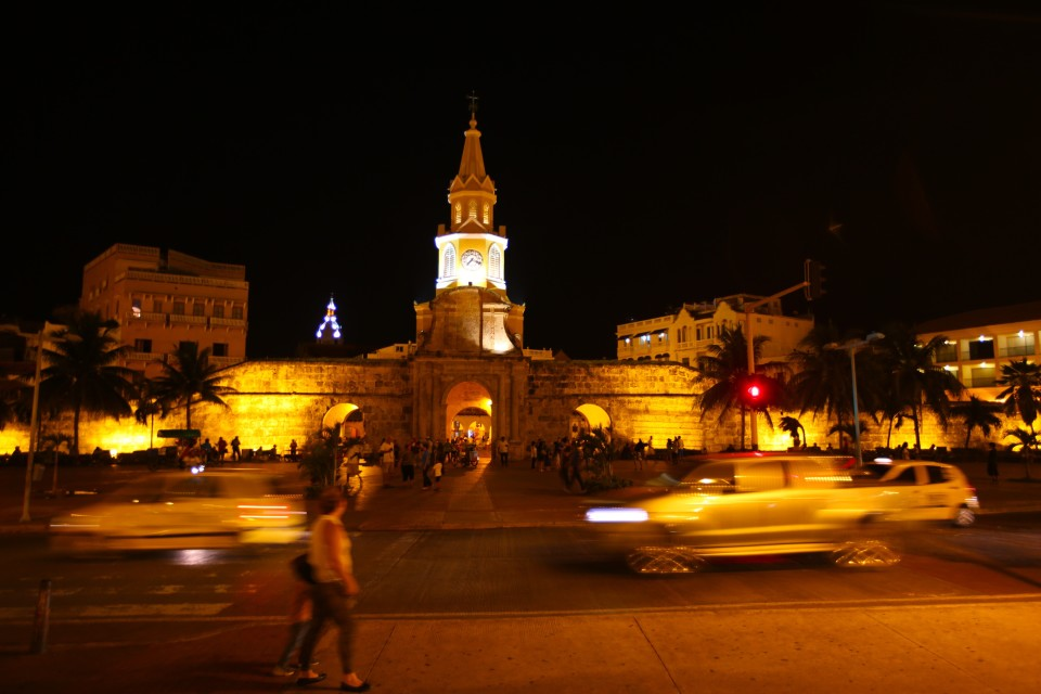 Our favorite entrance into the walled city at night.