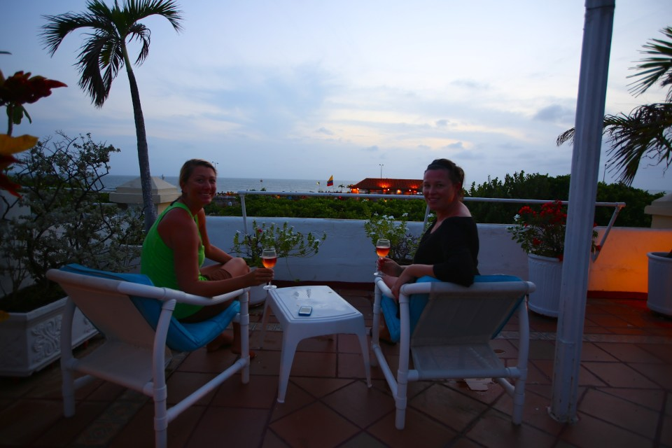 Nicole rented a three story apartment overlooking Cafe del Mar, this was our rooftop terrace. Yes, I have awesome friends =).