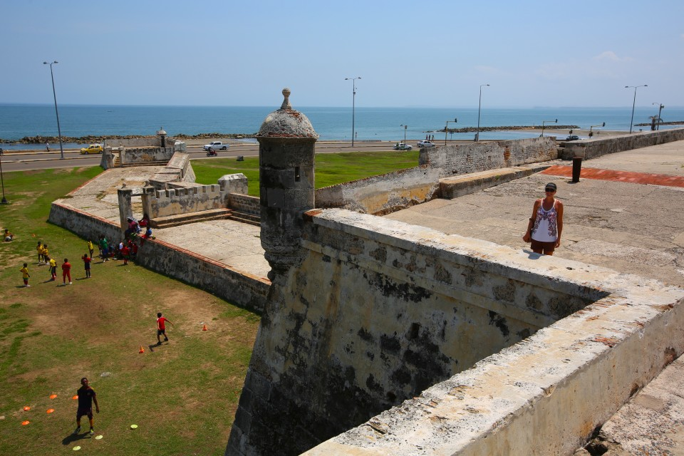 Exploring the wall in the crazy peak heat, we did that only one day. I can't believe people were playing soccer, it was the hottest weather we have had on the trip.