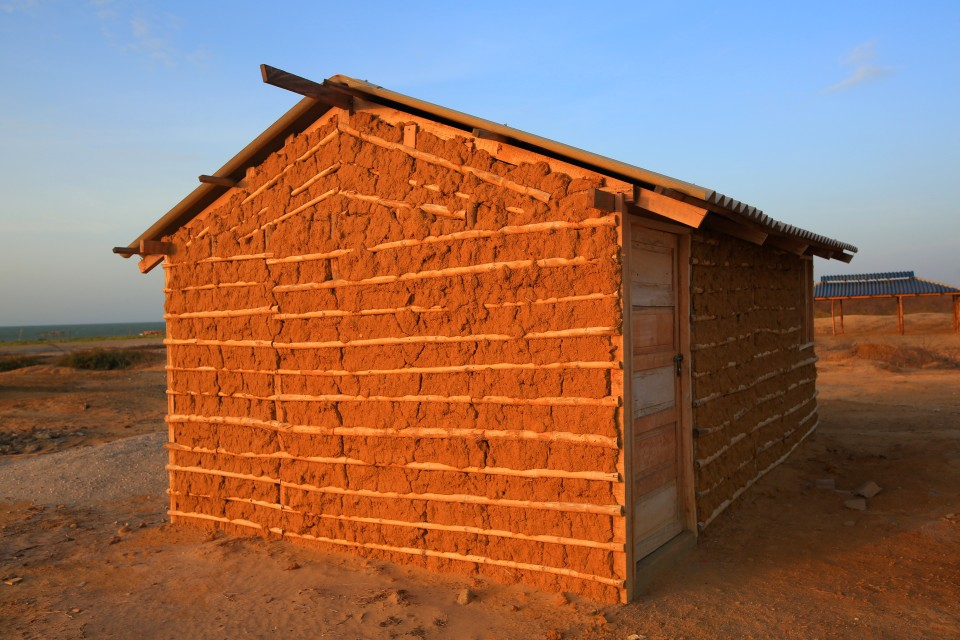 The mud houses of the Wayuu people.
