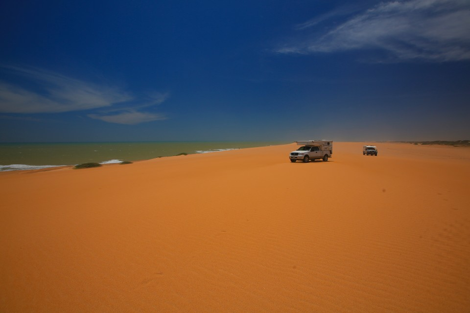Carpe Viam and us having a blast driving on the dunes.