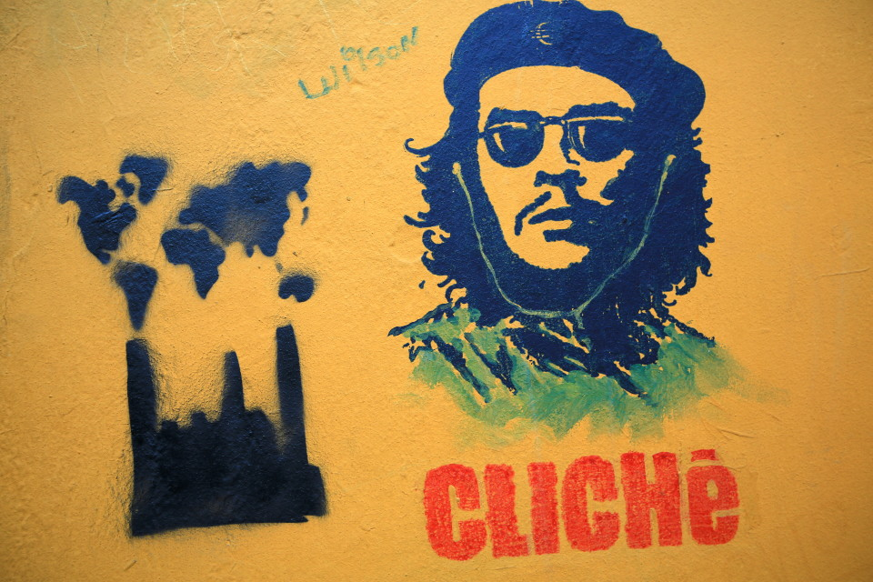 Saw this on a street in Bogota and thought Che would have a laugh about it. I am sure he would not have been thrilled about his face selling T-shirts and key chains.