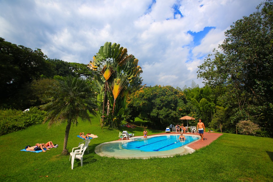 The finca was also a hostal and was full of backpackers. The pool was a great place to hang out and meet people from all over the world.
