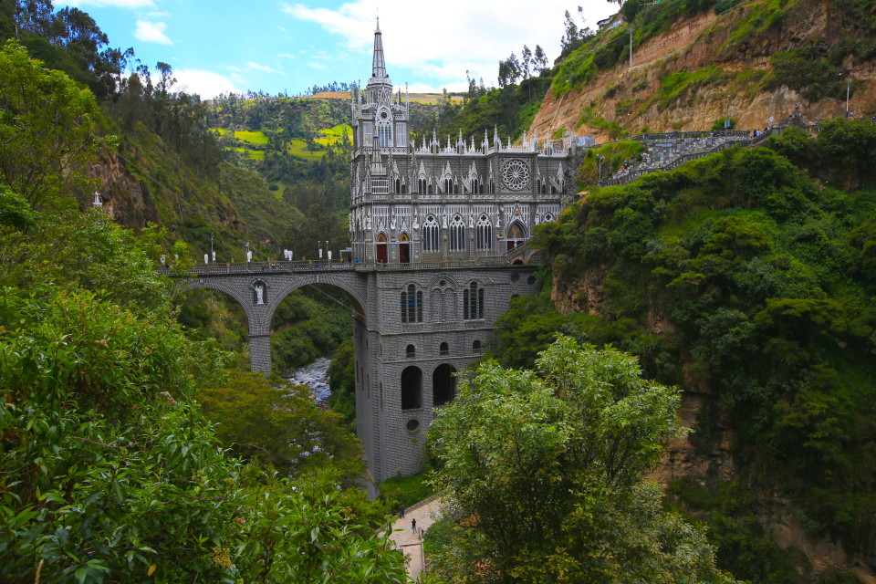 This is the only church I have ever seen across a river gorge. It was really dramatic.