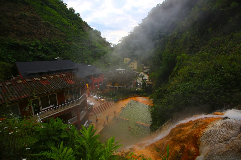 We went to the hot springs at the hotel. There are also hot springs at a ballenario down the road that are cheaper.