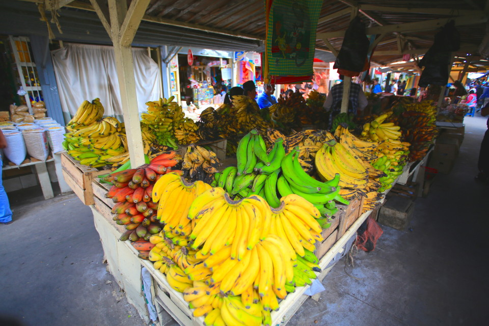 Want a banana or plantain? There are so many varieties to chose from. I like the red ones.