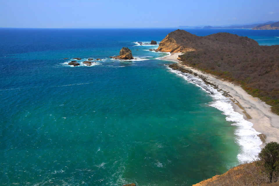Machilla National Park. You have to hike to these beaches, but it is an easy hike.
