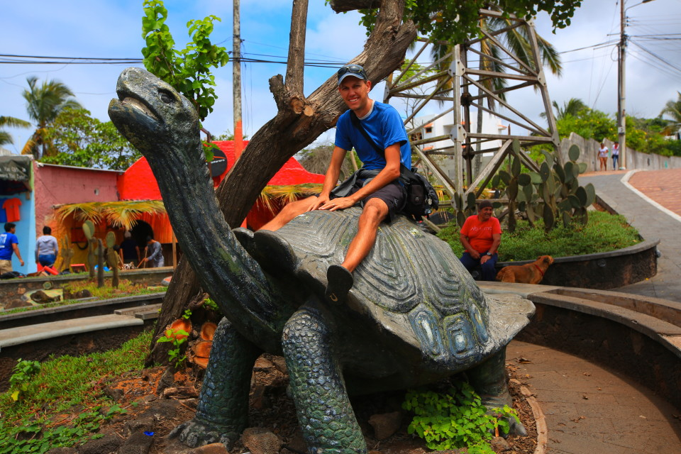 Unlike in Darwin's day, this is the only way you can ride a land tortoise.