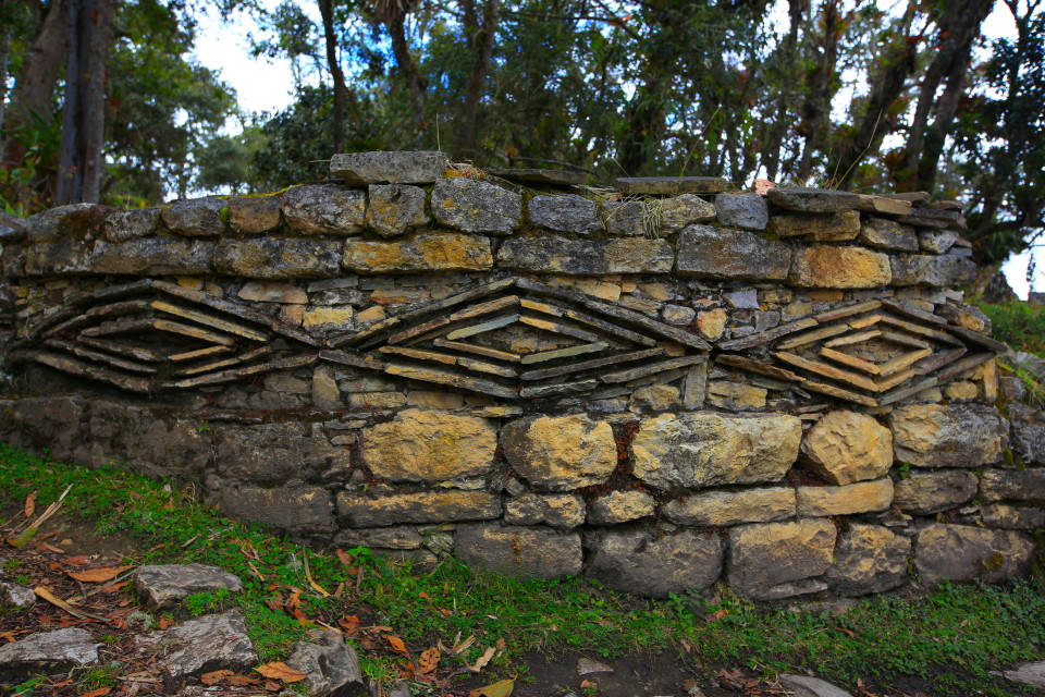 Chachapoyas signature zig zag style built into architectural design is still seen today in villages such as La Jalca.