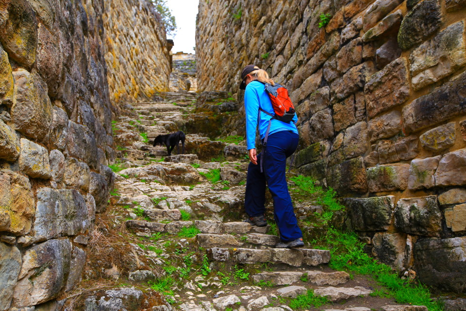Walking into the ruins, the walls were just amazing.