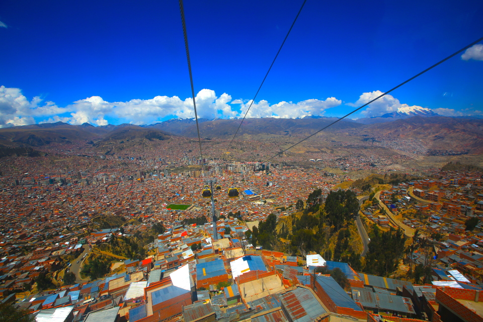 La Paz is a dramatic city at nearly 12,000 feet above sea level.