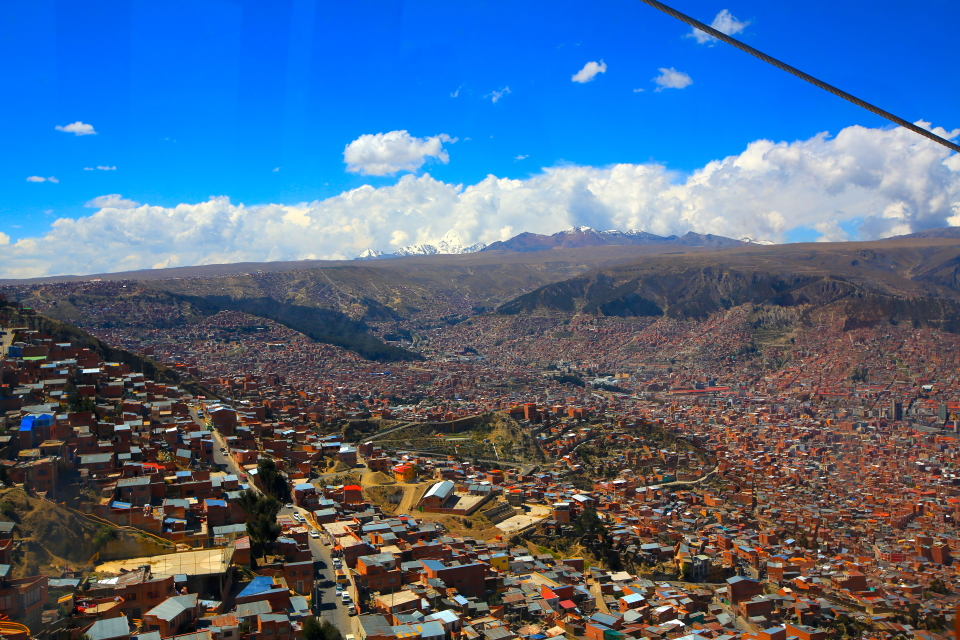 La Paz is a massive city where it would be easy to get lost.