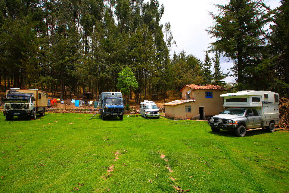 There is only one campground we are aware of in Cusco, and it seems like a stopping point for just about every overlander we've met.  It was fun to see all the different rigs here.