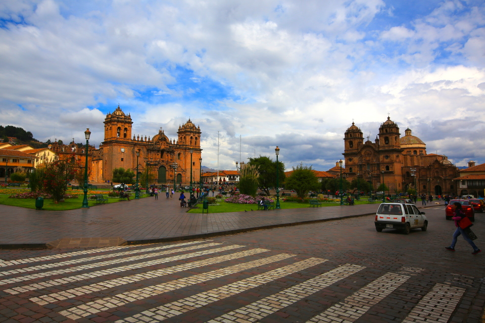 From Paracas, we headed towards Cusco, but it was a long drive that took us several days.  This photo is of the Plaza de Armas in Cusco.