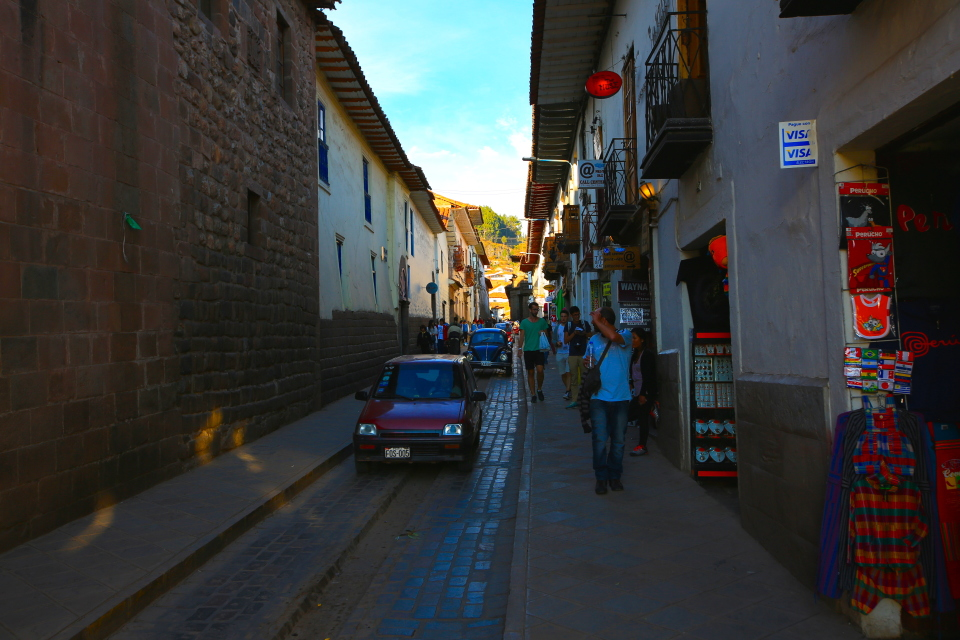 We took the XPCamper in on this road and just barely fit!  Plan your route well if you need to drive across Cusco.