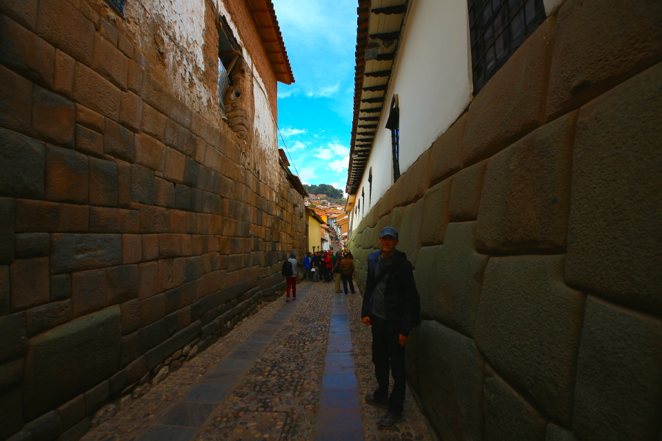 These walls have survived many earthquakes and have outlasted many of the walls that have been built since the spanish conquest.
