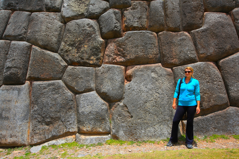 The walls are similar to those you see in central Cusco and are an incredible engineering feat.