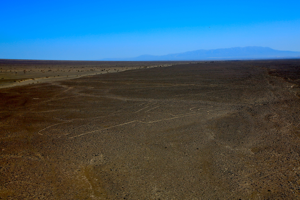 The Nazca Lines have been preserved by the desert which receives hardly any rain.