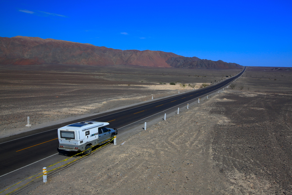 There is a spot to pull over right on the pan-american highway with a viewing platform for the Nazca Lines.