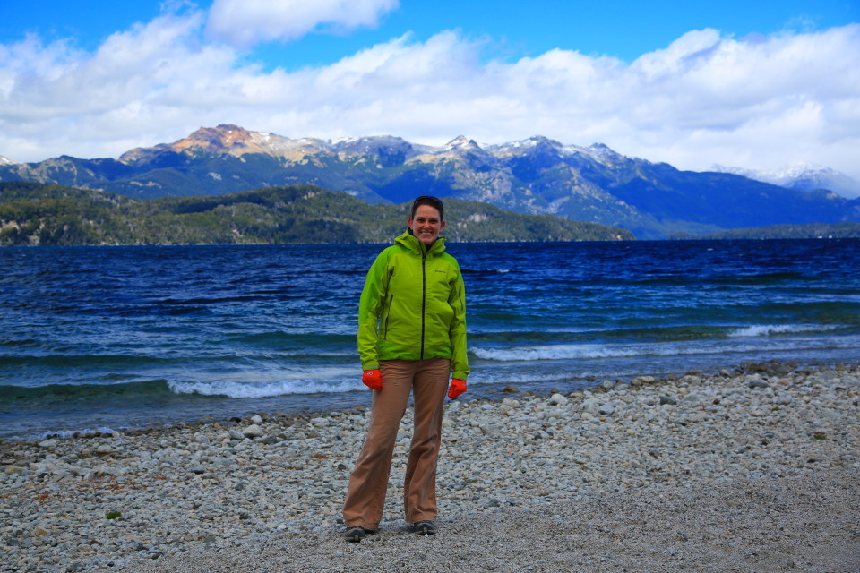 Well, we promised a Patagonia summer to be a break for the Utah winter and it was colder our first night in Argentina than it was in Salt Lake. This was Anna our first night.
