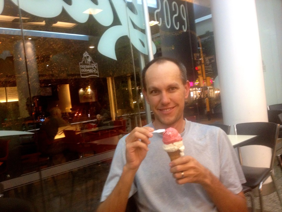 The ice cream in Argentina is amazing and they give you giant portions.