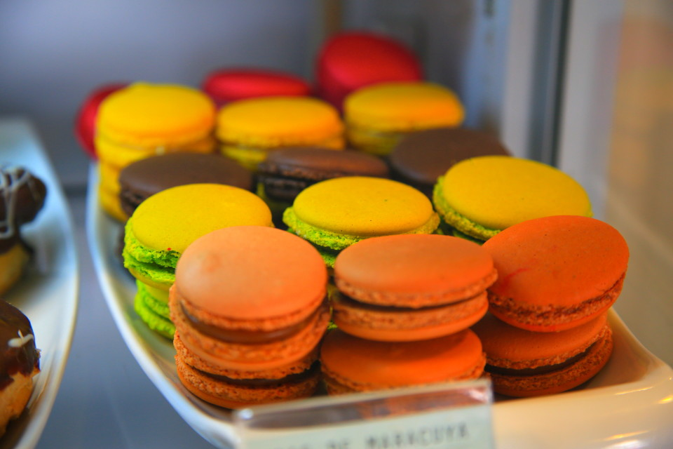 We even found a bakery near us with homemade macaroons.