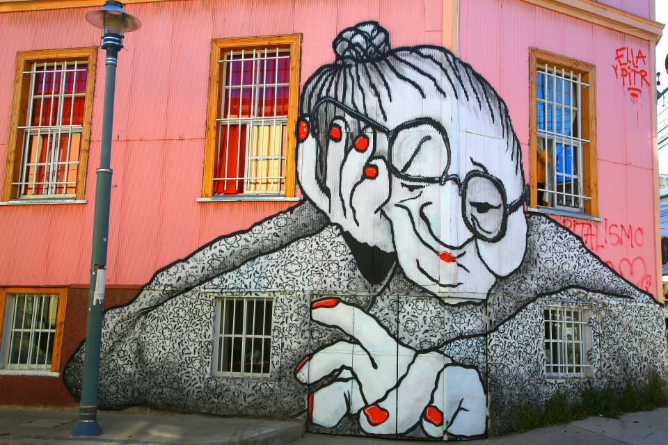 This mural was right around the corner from our hostel, I liked seeing her quirky face every morning as I wandered out for coffee.