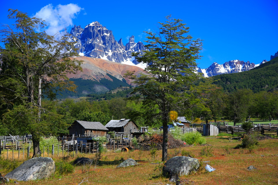 The mountain range of Cerro Castillo was so stunning, it is the one behind the house in the distance.