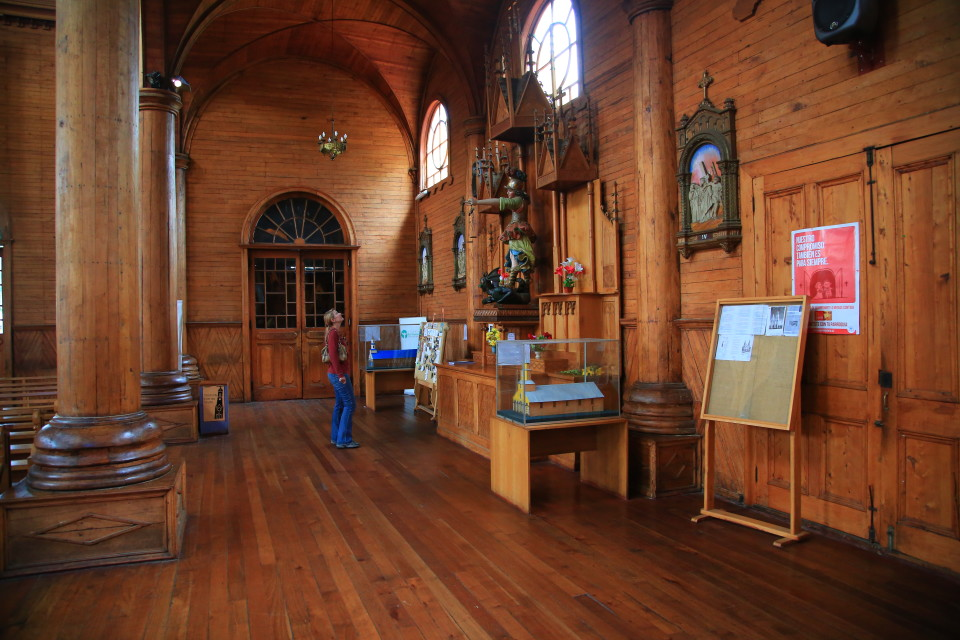 The Jesuit churches were all built with local wood inside and out.