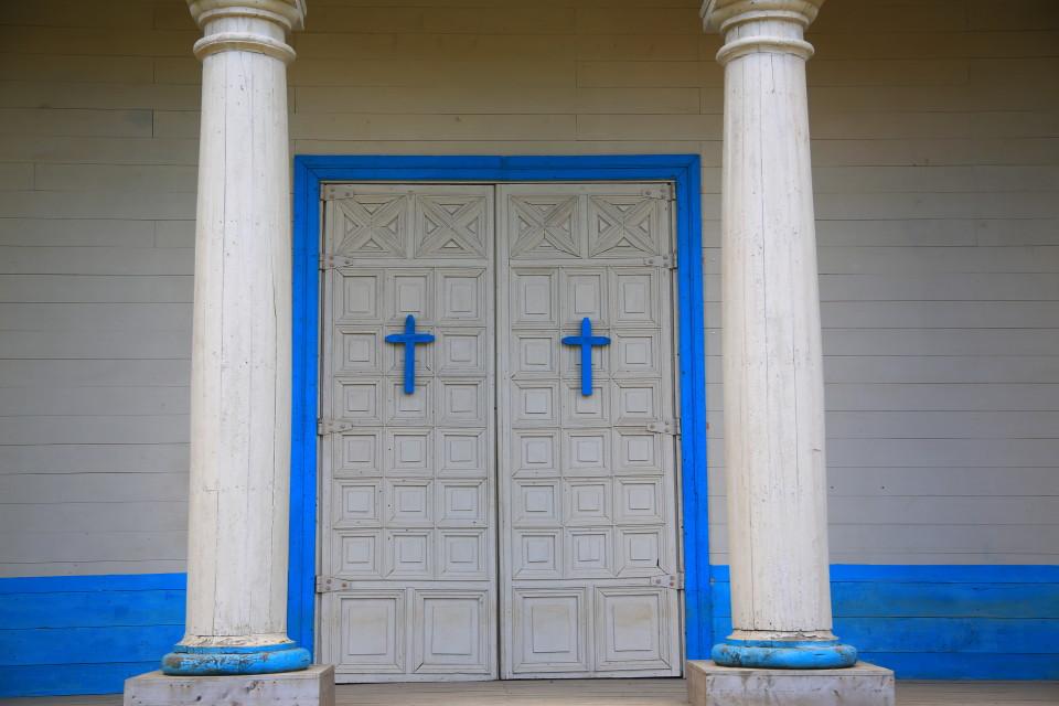 Front door of the church.