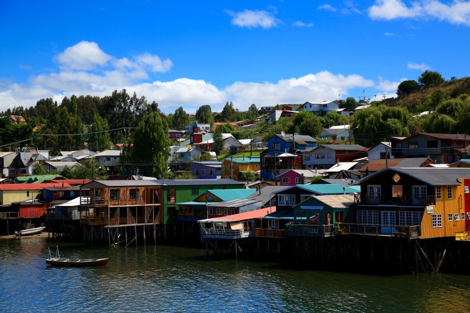 Colorful stilted houses. Reminded us of Sausalito in the bay area of California.