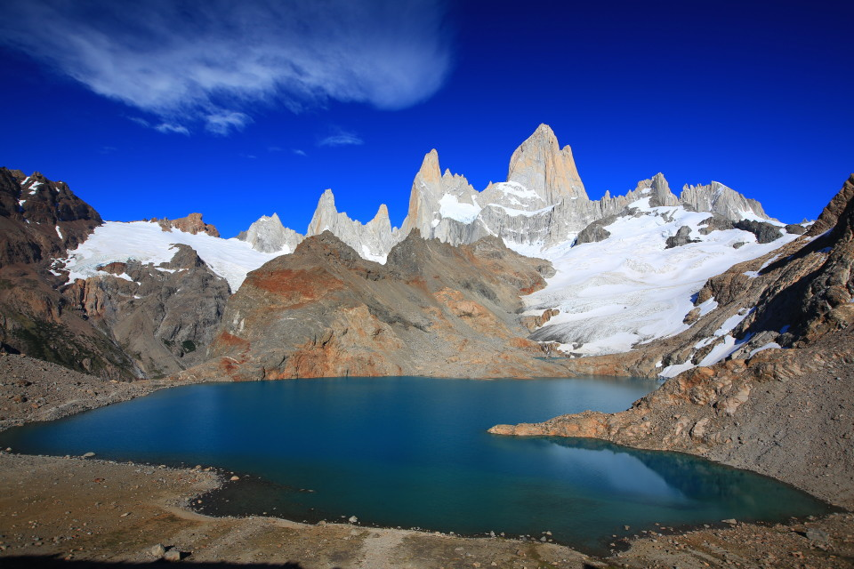 Fitz Roy. Looks just like the guide book photos. Hell, it looks better =).