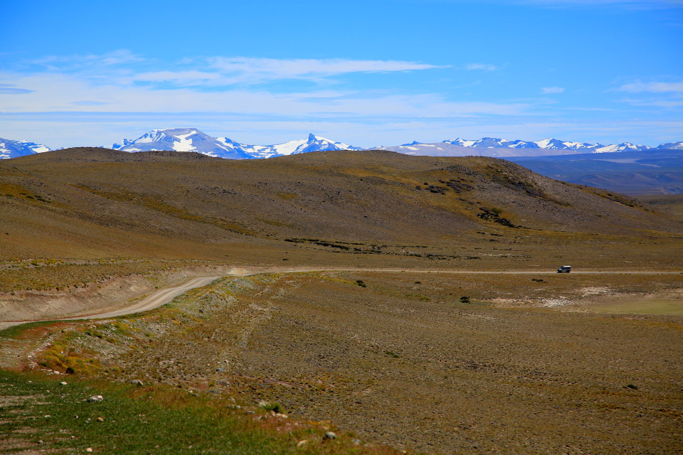 Road out of the park. This area was so remote there were almost zero tourists and we were visiting in peak season.