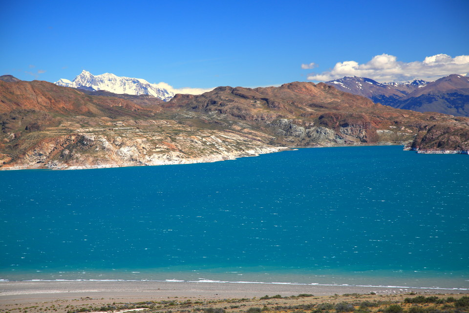 The lakes were also glacier blue on this side of the Andes.