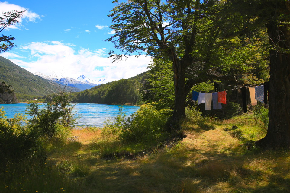 Then we would hang laundry up to dry in the sun. We had super hot weather for over two weeks after our little bit of rain. I think we might have had perfect weather actually. Super lucky.