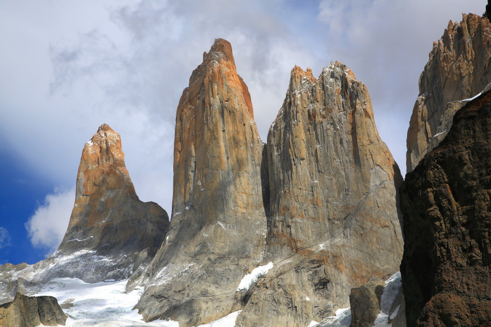 These are the actual Torres del Paine towers the park is named after.