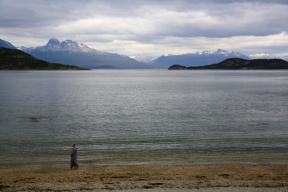 I love this picture. A monk alone on the beach in Patagonia. He just stood there for a really long time. I was so curious to what brought him here.