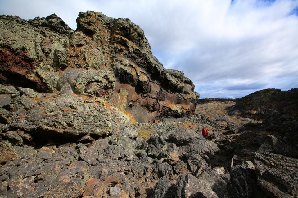 Walking through the huge lava felt like I was on Mars.