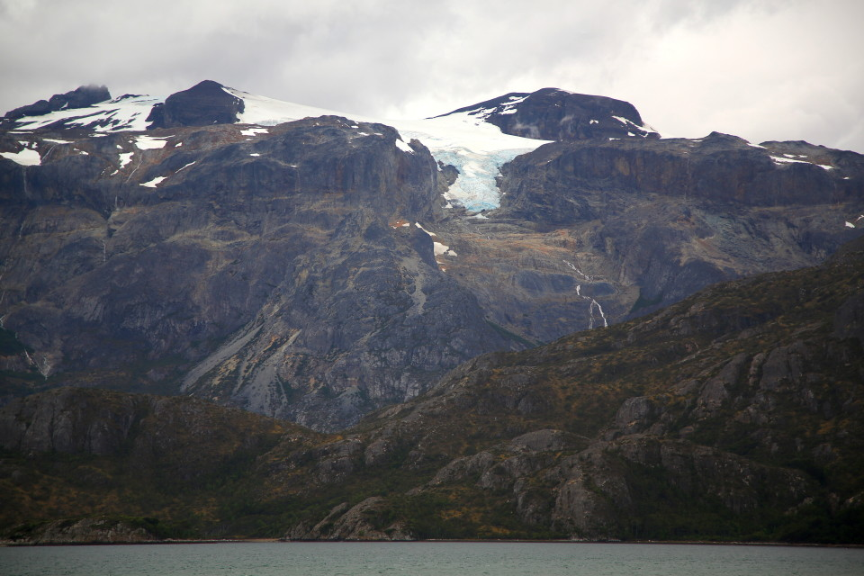 One of the glaciers on the channel. We saw a small cruise ship here for a few hours. I bet it was a great cruise.