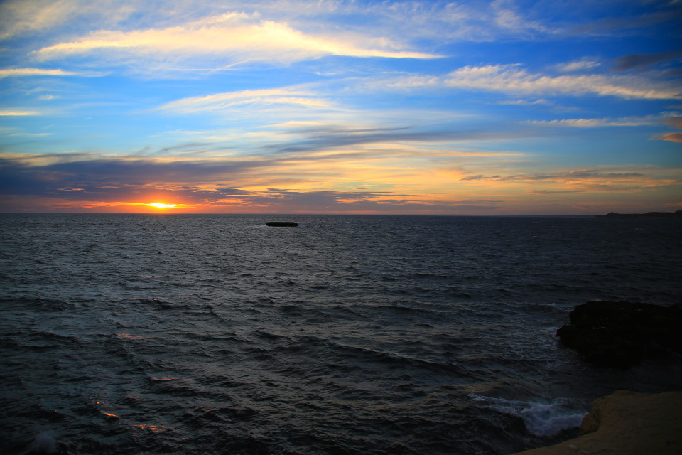 We were facing east, so we got to see the sun sort of set over the ocean. We had a great week with our awesome friends!