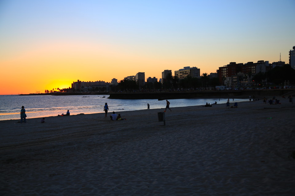 The beach that hugged almost the entire city of Montevideo.
